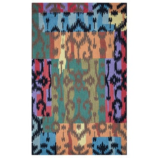 Arden Loft Hand-tufted Beige Fractured Ikat River Hill Collection Wool Area Rug (2'6 x 8')