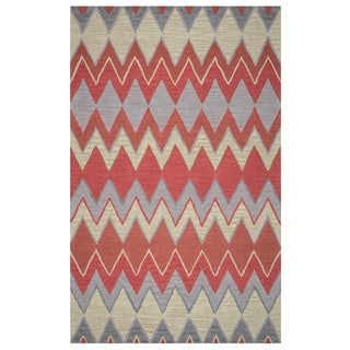 Arden Loft Hand-tufted Natural Chevron River Hill Collection Wool Area Rug (2'6 x 8')