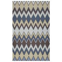 """Arden Loft Hand-tufted Grey Floral River Hill Collection Wool Area Rug - 2'6"""" x 10'"""
