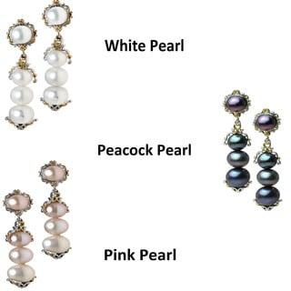 Michael Valitutti Palladium Silver & Pear Dangle Earrings (6.5mm)