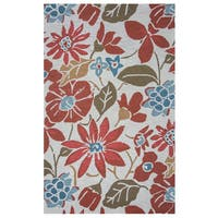 Arden Loft Hand-tufted Ivory Floral River Hill Collection Wool Area Rug (2'6 x 8')