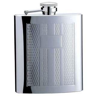 Visol Textured Columns Pattern Liquor Flask - 8 ounces