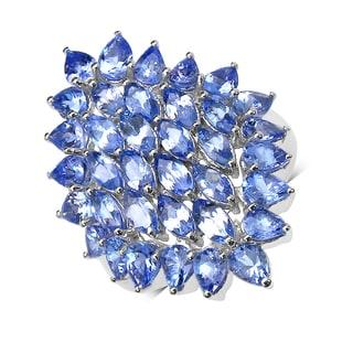 Malaika Sterling Silver 5ct Tanzanite Ring
