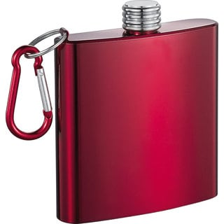 Visol Red Dragon Red Anodized Stainless Steel Liquor Flask - 6 ounces (Option: Red)