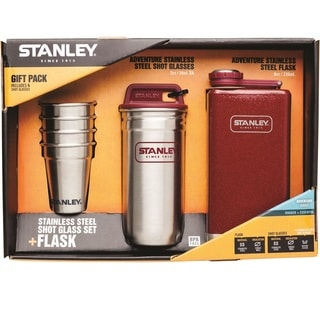 Stainley Adventure Gift Pack w/ Flask and Shot Set - Crimson