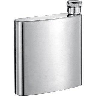 Visol Sidecap Brushed Stainless Steel Liquor Flask - 6 ounces