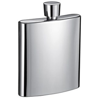 Visol Wenig Mirrored Stainless Steel Liquor Flask - 3 ounces