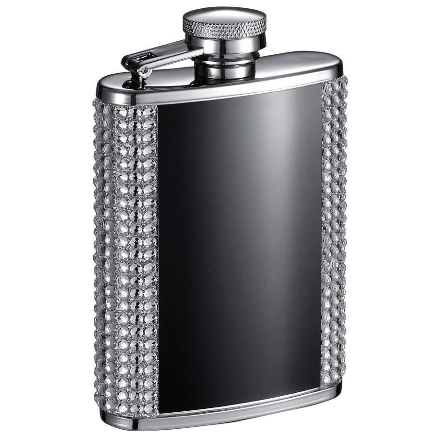 Visol Amanda Black and Bling Liquor Flask - 3 ounces (Bla...
