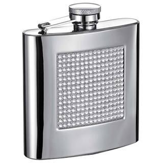 Visol Vierkant Bling Mirrored Liquor Flask - 6 ounces