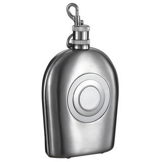 Visol Outdoorsman Stainless Steel Liquor Flask with Clip and Shot Cup - 7 ounces