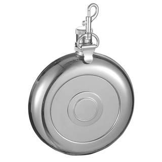 Visol Bulls eye Liquor Flask with Built-In Shot Cup and Belt Key Holder - 8 ounces