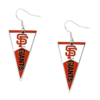 Sports Team Logo MLB Pennant Dangle Earring Set (Option: Los Angeles Angels)