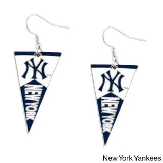 Sports Team Logo MLB Pennant Dangle Earring Set (More options available)