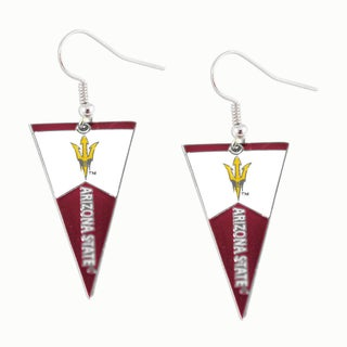 Sports Team Logo NCAA Pennant Dangle Earring (More options available)