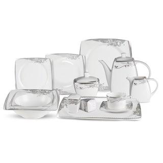 Lorren Home Trend 57-Piece Bone China Dinnerware Set (Service for 8)  sc 1 st  Overstock & Formal Dinnerware For Less | Overstock