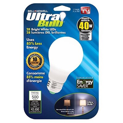 Bell & Howell 40 or 60 Watt LED Ultra Bulbs (40 Watt), Wh...