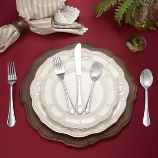 RiverRidge Royalty Pattern 46-piece Monogrammed Flatware