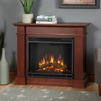 Devin Compact Electric Fireplace Dk Espresso by Real Flame