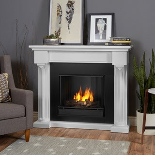 Real Flame Verona White Oak Gel Fuel Fireplace