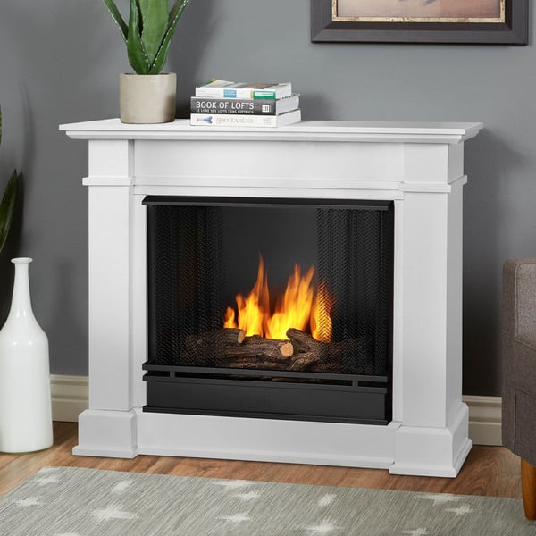 Shop Devin Gel Fuel Compact Fireplace White By Real Flame