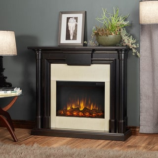 Real Flame Maxwell Blackwash 47.6 in. L x 9.5 in. W x 40 in. H Electric Fireplace