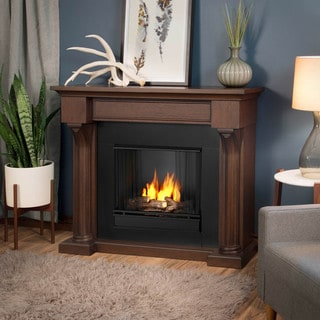 Real Flame Verona Chestnut Oak Gel Fuel Fireplace