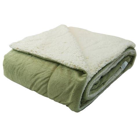 Micromink Sherpa 60-inch Throw Blanket