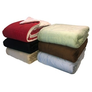 Micromink Sherpa 60-inch Throw Blanket