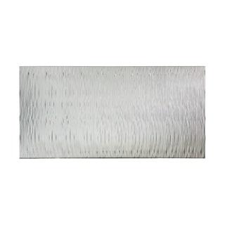 Fasade Waves Vertical Brushed Aluminum 4-foot x 8-foot Wall Panel