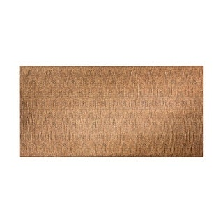 Fasade Waves Vertical Cracked Copper 4-foot x 8-foot Wall Panel