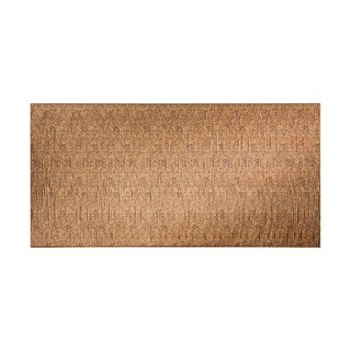 Fasade Waves Vertical Cracked Copper 4-foot x 8-foot Wall Panel (2 options available)