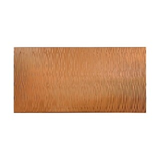 Fasade Waves Vertical Polished Copper 4-foot x 8-foot Wall Panel