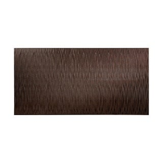 Fasade Waves Vertical Smoked Pewter 4-foot x 8-foot Wall Panel