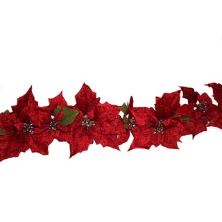 Red Poinsettia Garland