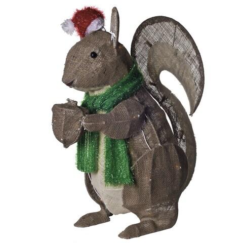 Burlap Holiday Rustic Squirrel