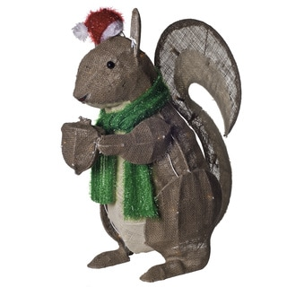 Burlap Holiday Rustic Squirrel