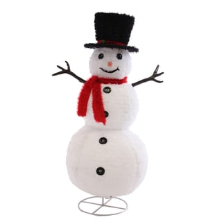 Fluffy Top Hat with Holly Snowman