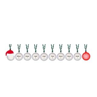 10-Light Santa with Reindeer Golf Balls Light Set