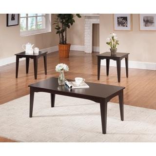 K & B T80 Espresso Wood Tables (Set of 3)