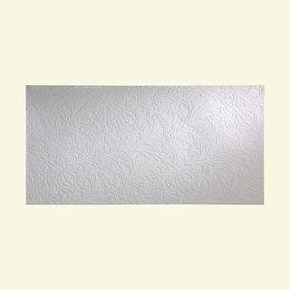 Fasade Nettle Gloss White Wall Panel (4' x 8')