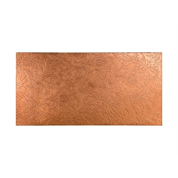 Shop Fasade Nettle Polished Copper Wall Panel 4 X 8 Overstock 10589901