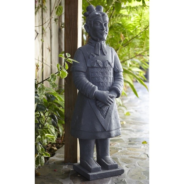 40-inch Fiber Clay Warrior Statue