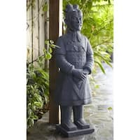 40-inch Fiber Clay Warrior Statue