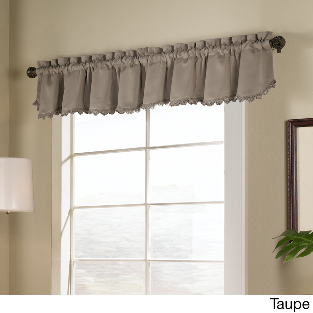 Shop Luxury Collection Blackstone Energy Efficient Loop Fringe Valance - 15 x 54 - 15 x 54 - 10590011