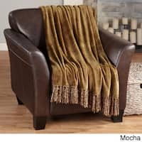 Ultra-Soft Solid Color Fringe Microplush Throw