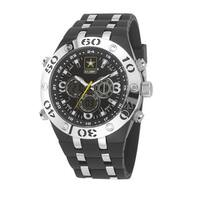 Wrist Armor Men's U S Army C23 Black Stainless Steel Watch