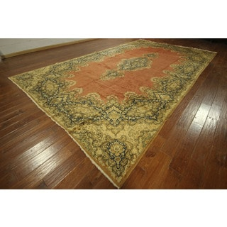 Authentic Overdyed Signed Kerman Hand-knotted Persian Wool Rug (11' & Up)