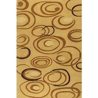 Handmade Wool Elysee Ivory Rug Size (8' x 11')