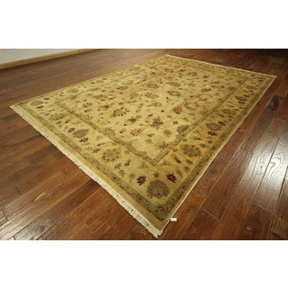 Antiqued Vegetable Dyed Hand-knotted Oushak Floral Turkish Wool Rug (8' x 12')