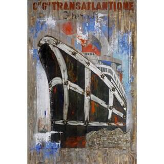 Aurelle Home Titanic Transatlantic Canvas Wall Decor